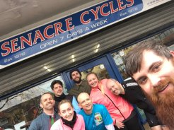 Some of our cyclist team