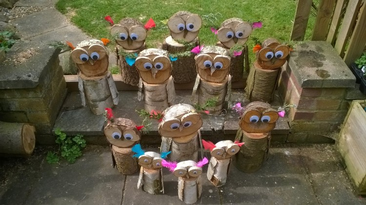 Our Owl family made by Anthony Diprose